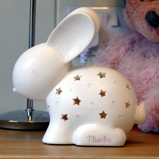Personalised Rabbit Night Light