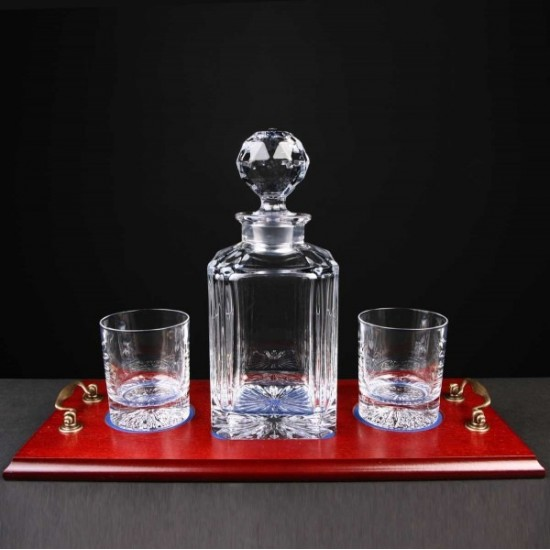 Crystal Decanter Whiskey Set