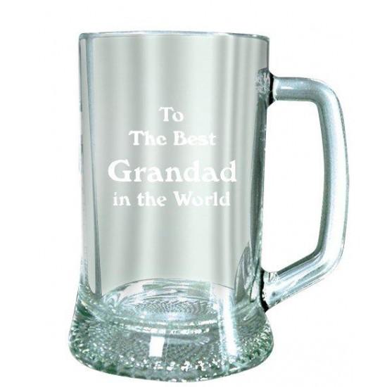 Best Grandad In The World Glass Tankard