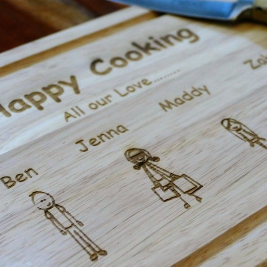 Personalised Wooden Chopping Board Engraved In Your Own Handwriting
