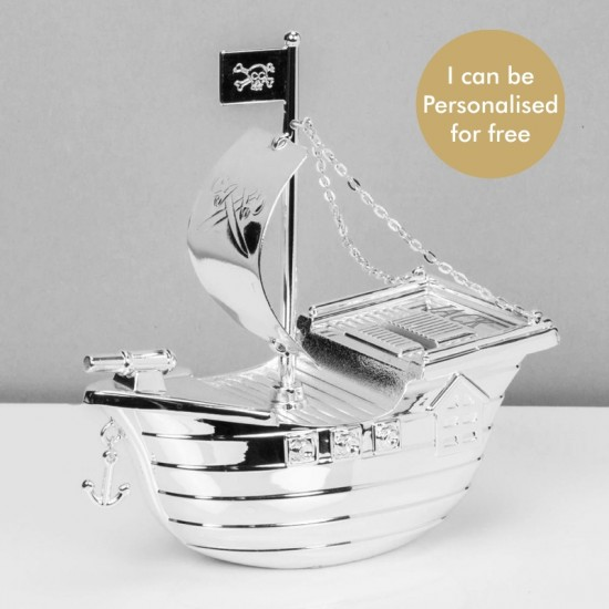 Pirate Ship Money Box - Personalised