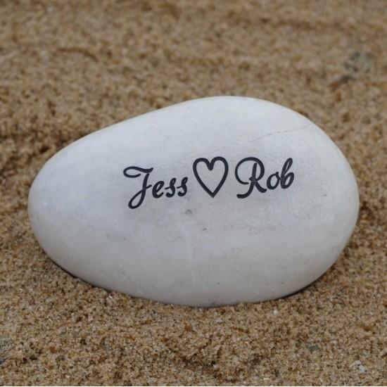 Couple's Name Pebble