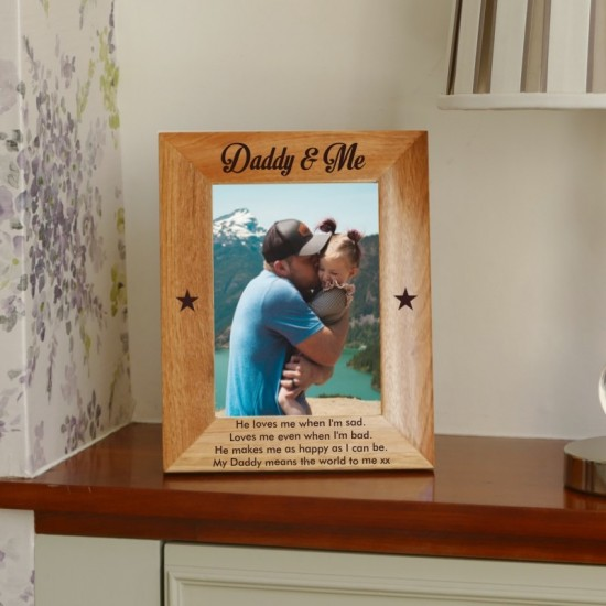Personalised Daddy Photo Frame 5x7