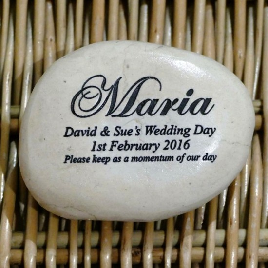 Engraved Pebble Wedding Favours