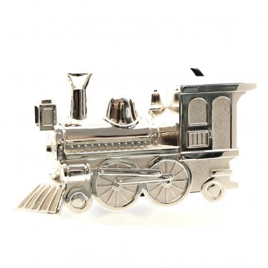 Silverplated Train Money Box