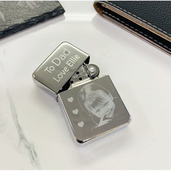 Photo Engraved Zippo Style Lighter | Photo Lighter
