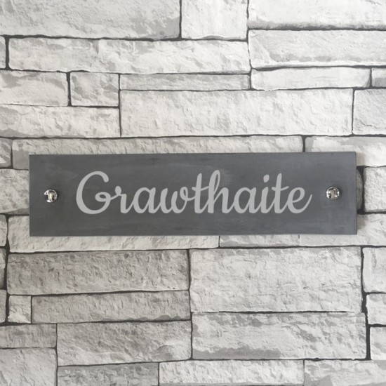 Slate House Number 101mm x 406mm