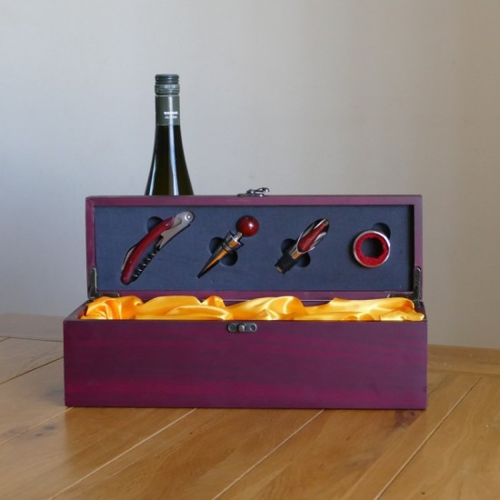Personalised Wine Box Set, Engraved to your requirements
