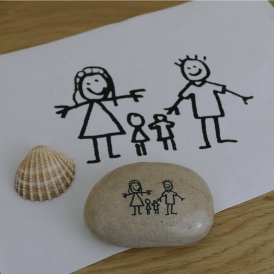 Pebble Engraved With Your Child's Drawing