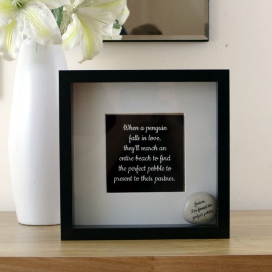 Penguin Pebble Frame