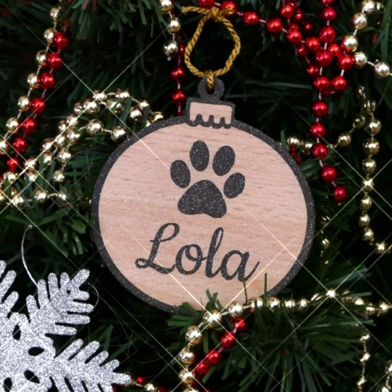 Personalised Christmas Tree Baubles For Dogs
