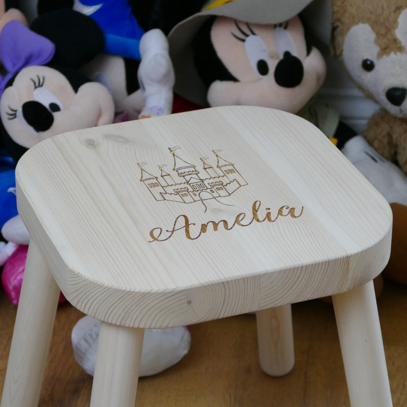 Phenomenal Personalised Childrens Stool Machost Co Dining Chair Design Ideas Machostcouk