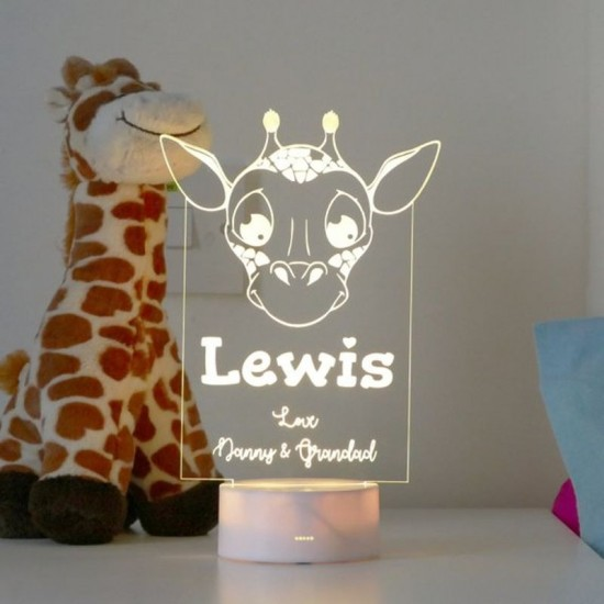 Giraffe Night Light | Personalised Childrens Night Lights