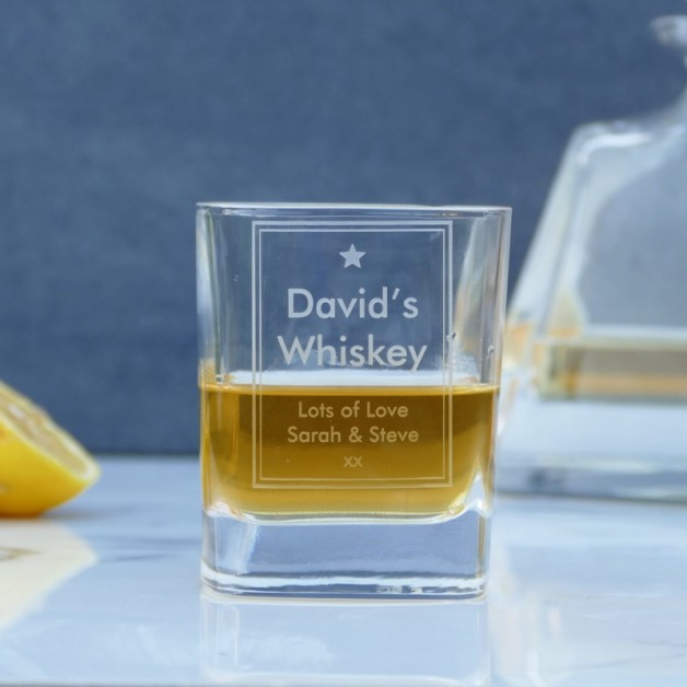 Personalised Star Whiskey Glass
