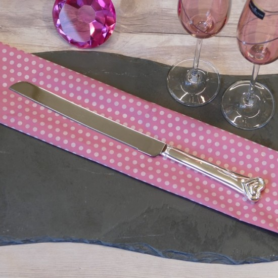 Silverplated Love Heart Cake Knife | Wedding Cake Knife