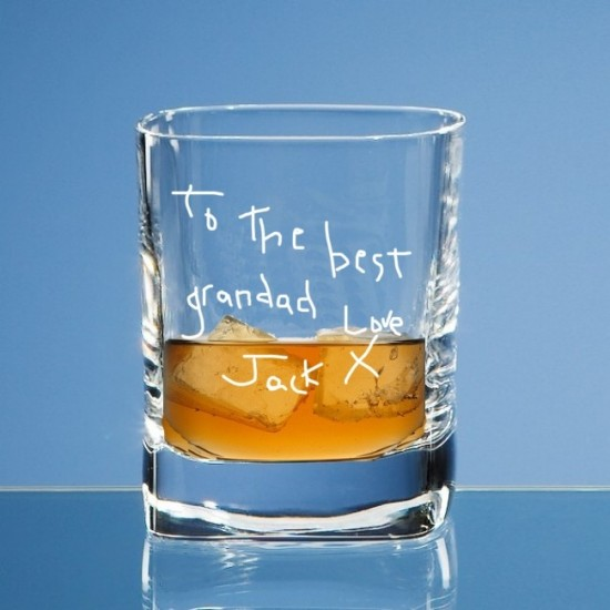 Personalised Whiskey Glass Engraved In Your Own Handwriting