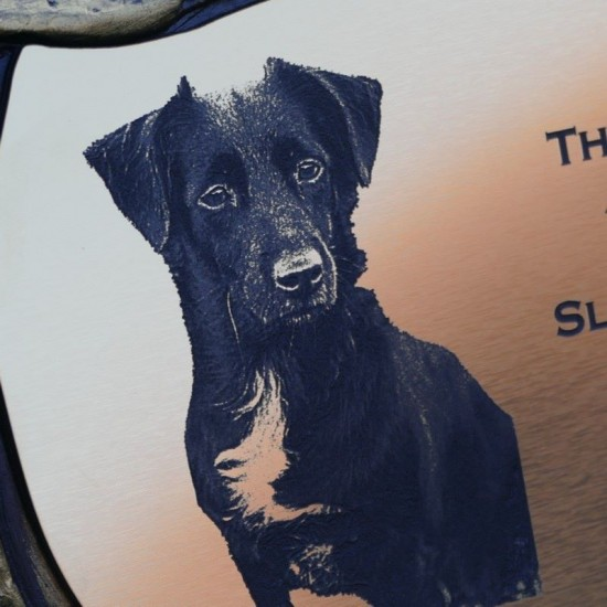Garden or Graveside Pet Memorial Stone With Photo And Message