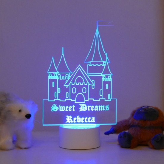 Personalised Princess Castle Night Light