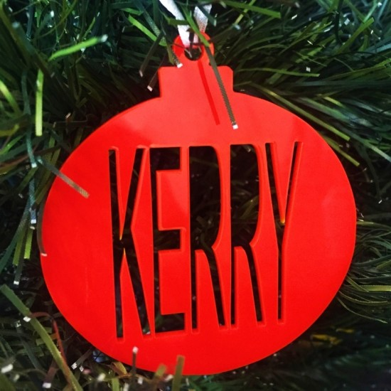 Red Bauble Personalised With Name