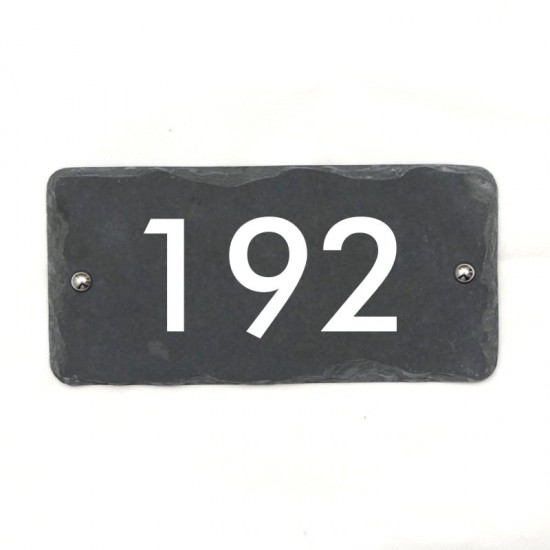 Rustic Slate House Number 250mm x 120mm