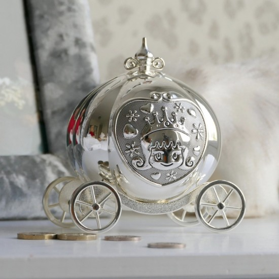 Silverplated Princess Carriage Money Box