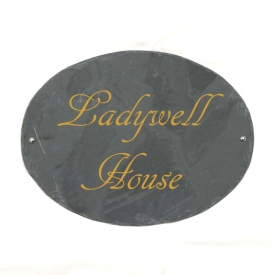 Large Rustic Slate House Sign 420mm x 320mm