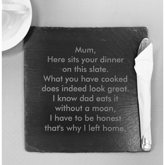 Funny Mum Slate Placemat