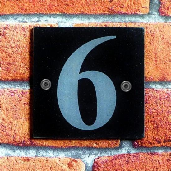 100mm x 100mm Black Marbelite House Number