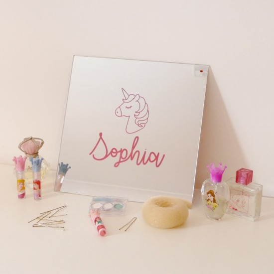 Personalised Unicorn Wall Mirror