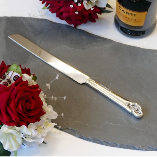 Crystal Heart Cake Knife | Personalised Heart Cake Knife