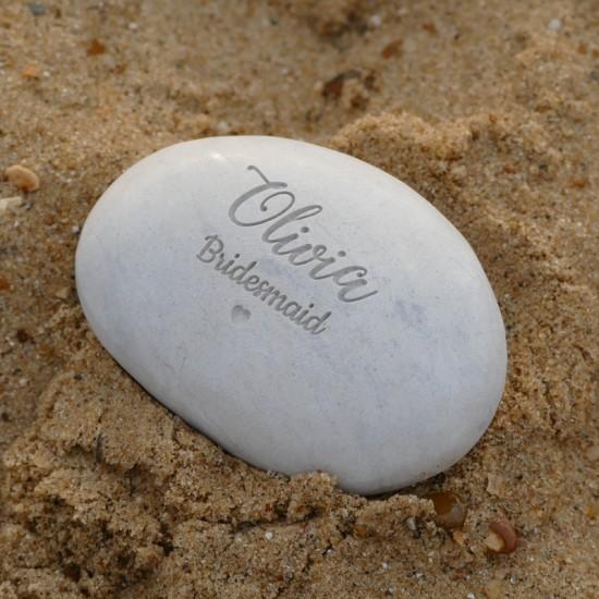 Bridesmaid Pebble - Deep Engraved