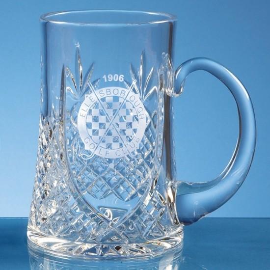 Lead Crystal Panel Glass Tankard