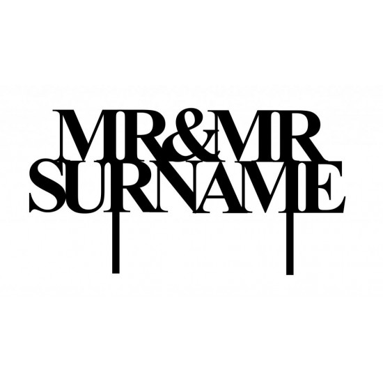 Personalised  Acrylic Mr & Mr Cake Topper