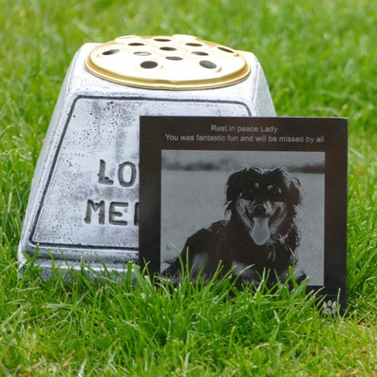 Pet Memorial Personalised With Engraved Photo