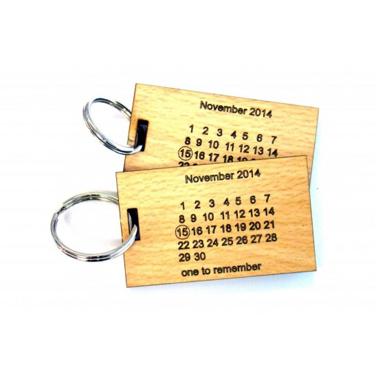 Save The Date Key Rings