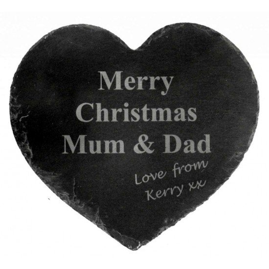 Personalised Heart Shaped Slate Placemats